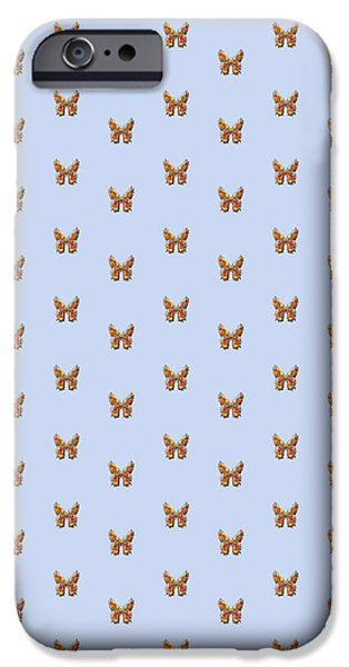 Insects Tapestries - Textiles iPhone Cases - Tiddlyflybluebutterfly iPhone Case by Deborah Runham
