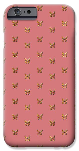 Insects Tapestries - Textiles iPhone Cases - Tiddlyflyduskypinkbutterfly iPhone Case by Deborah Runham