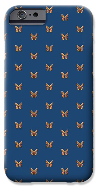 Insects Tapestries - Textiles iPhone Cases - Tiddlyflyfrenchnavybutterfly iPhone Case by Deborah Runham