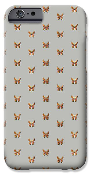 Insects Tapestries - Textiles iPhone Cases - Tiddlyflygreybutterfly iPhone Case by Deborah Runham