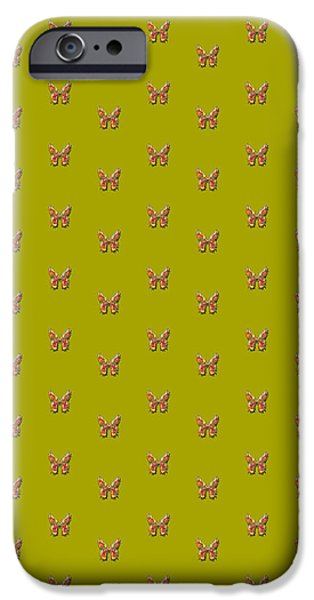 Insects Tapestries - Textiles iPhone Cases - Tiddlyflyolivebutterfly iPhone Case by Deborah Runham