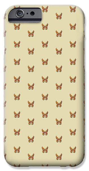 Insects Tapestries - Textiles iPhone Cases - Tiddlyflyputtybutterfly iPhone Case by Deborah Runham