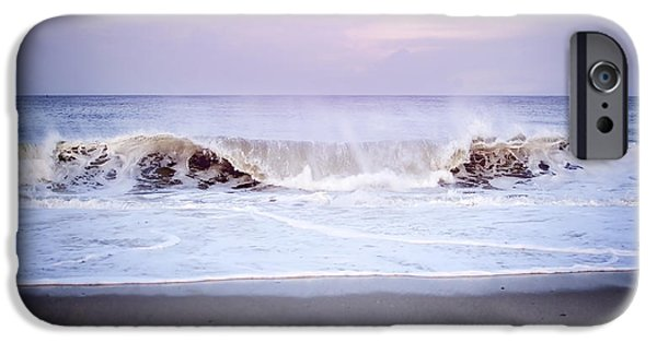 Ocean Sunset iPhone Cases - Tide Rolling In iPhone Case by Heather Applegate