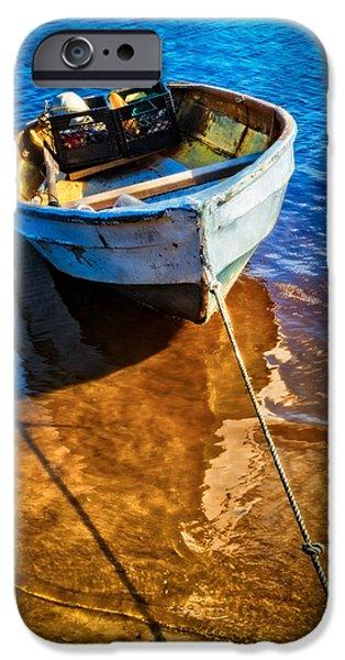 Canoe iPhone Cases - Tide Up iPhone Case by Debra and Dave Vanderlaan