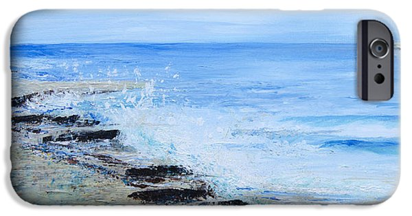 Abstract Seascape iPhone Cases - Tideline iPhone Case by Jill Tisbury