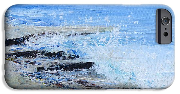 Abstract Seascape iPhone Cases - Tideline#2 iPhone Case by Jill Tisbury