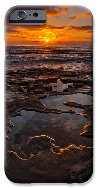Recently Sold -  - Ocean Sunset iPhone Cases - Tidepools at La Jolla iPhone Case by Peter Tellone