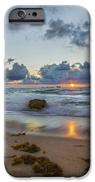 Ocean Sunset iPhone Cases - Tides of Serenity iPhone Case by Kevin Ruck