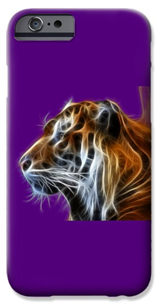Colorado Mixed Media iPhone Cases - Tiger Fractal iPhone Case by Shane Bechler