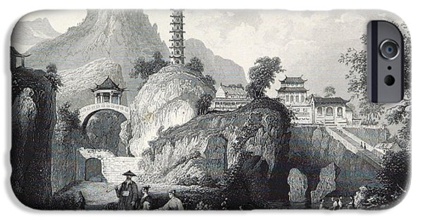 The Tiger iPhone Cases - Tiger Hill Temple And Yunyan Pagoda iPhone Case by British Library