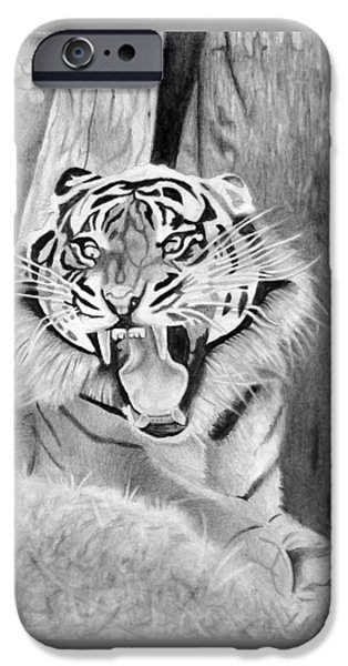 Hyperrealistic iPhone Cases - Tiger is near you iPhone Case by Vedran Vidakovic