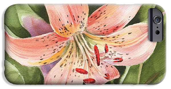 Occasion iPhone Cases - Tiger Lily iPhone Case by Irina Sztukowski