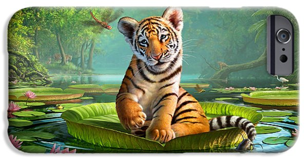 Asia iPhone Cases - Tiger Lily iPhone Case by Jerry LoFaro