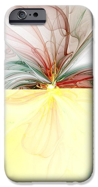 Abstract Digital Art iPhone Cases - Tiger Lily iPhone Case by Amanda Moore