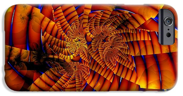 Tiger Fractal iPhone Cases - Tiger Lily iPhone Case by Ron Bissett