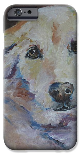 Mixed Labrador Retriever iPhone Cases - Tiger Marie iPhone Case by Julie Dalton Gourgues