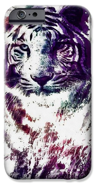 The Tiger iPhone Cases - Tiger Pop Art iPhone Case by Catherine Lott