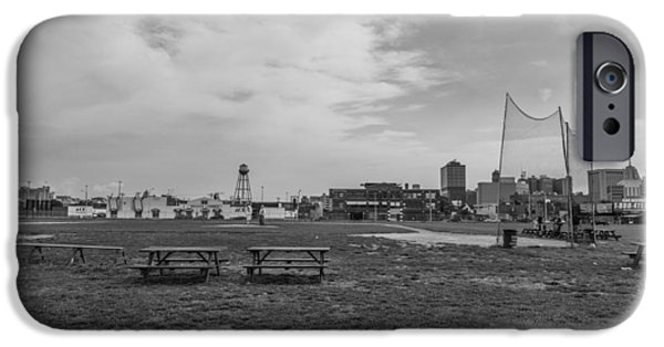 Baseball Stadiums iPhone Cases - Tiger Stadium Once Stood Black and White  iPhone Case by John McGraw
