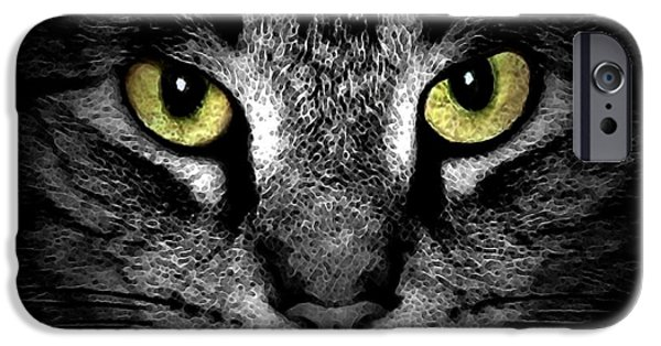 Photos Of Cats iPhone Cases - Tiger Tiger 3 iPhone Case by Dale   Ford