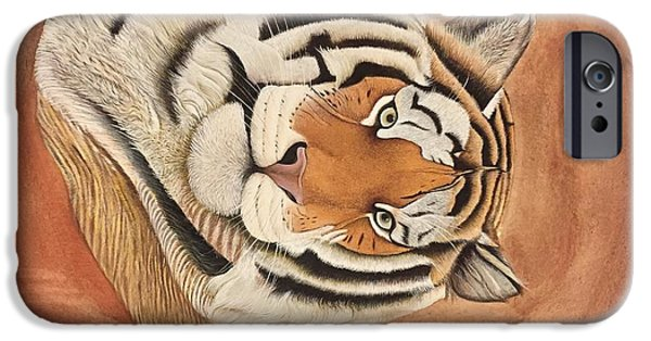 Animal Drawings iPhone Cases - Tiger iPhone Case by Unknown