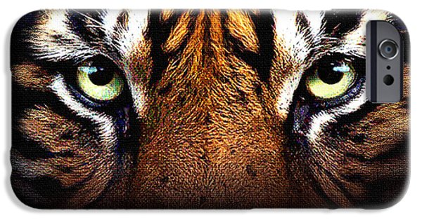 The Tiger iPhone Cases - Tigers Eye iPhone Case by Robert Foster