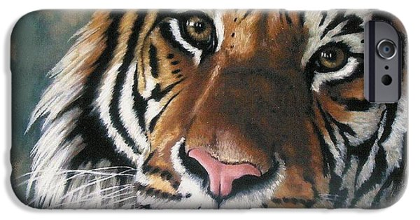 Tigers iPhone Cases - Tigger iPhone Case by Barbara Keith