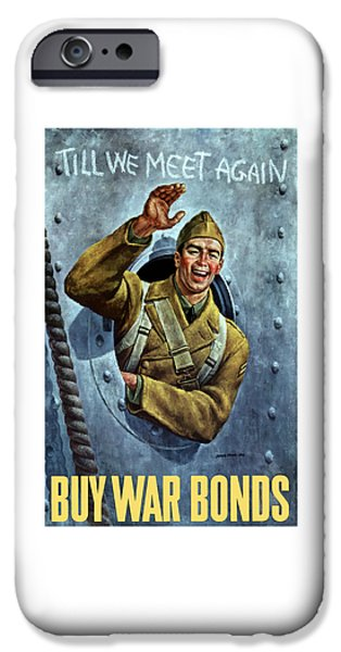 Ww11 iPhone Cases - Till We Meet Again -- WW2 iPhone Case by War Is Hell Store