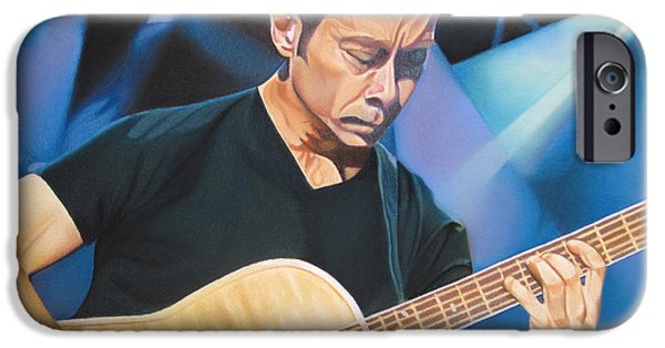 Player Drawings iPhone Cases - Tim Reynolds and Lights iPhone Case by Joshua Morton