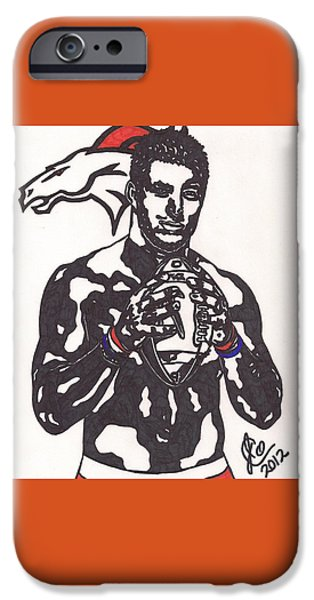 Tim Tebow 2 iPhone Case by Jeremiah Colley