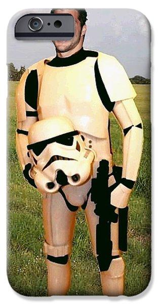Tim Tebow Stormtrooper iPhone Case by Paul Van Scott
