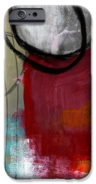 Geometric Art iPhone Cases - Time Between- Abstract Art iPhone Case by Linda Woods