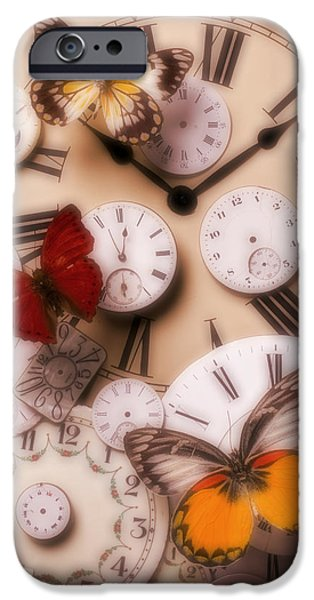 Mystery Photographs iPhone Cases - Time flies iPhone Case by Garry Gay