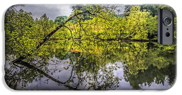 Willow Lake iPhone Cases - Time for Reflecting iPhone Case by Debra and Dave Vanderlaan