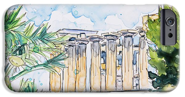 Sicily Paintings iPhone Cases - Time Goes By iPhone Case by Shaina Stinard