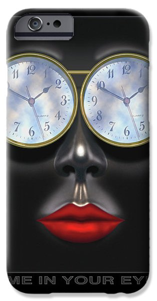 Lips iPhone Cases - Time In Your Eyes iPhone Case by Mike McGlothlen