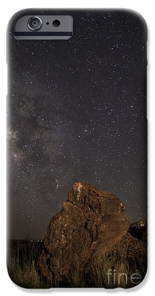 Petrified Forest Arizona iPhone Cases - Time iPhone Case by Melany Sarafis