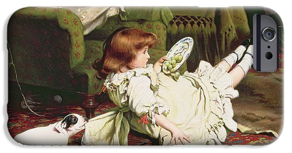 Mischief iPhone Cases - Time to Play iPhone Case by Charles Burton Barber