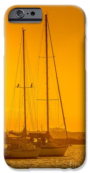 Sailboat Photographs iPhone Cases - Time To Sail iPhone Case by Marvin Spates