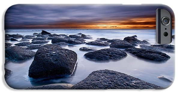 Ocean Sunset iPhone Cases - Time travel iPhone Case by Jorge Maia