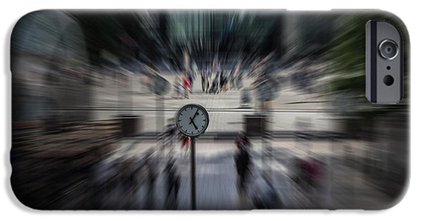 Timing iPhone Cases - Time Traveller iPhone Case by Martin Newman
