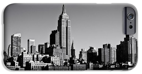 Empire State iPhone Cases - Timeless - The Empire State Building and the New York City Skyline iPhone Case by Vivienne Gucwa