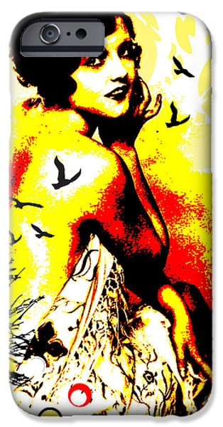 Modern Abstract Mixed Media iPhone Cases - Timeless Flight iPhone Case by Chris Andruskiewicz