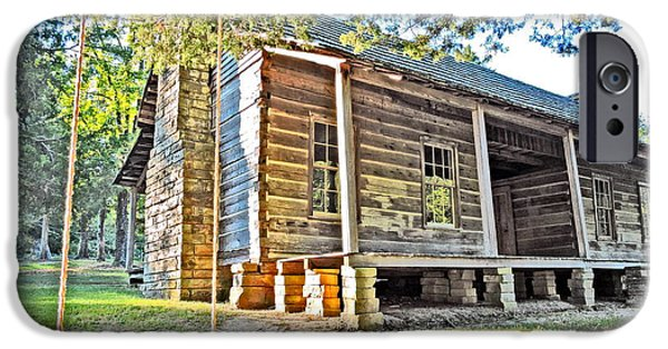 Cabin Window iPhone Cases - Times Gone By iPhone Case by Delana Epperson