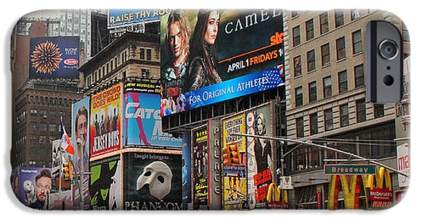 42nd Street iPhone Cases - Times Square 4 iPhone Case by Andrew Fare