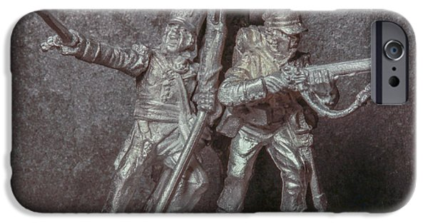 Army Men iPhone Cases - Tin Soldiers The Charge iPhone Case by Randy Steele