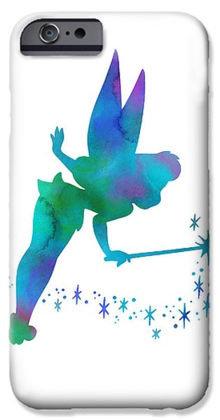 Tinker Bell iPhone Cases - Tinker Bell iPhone Case by Nagore Rodriguez