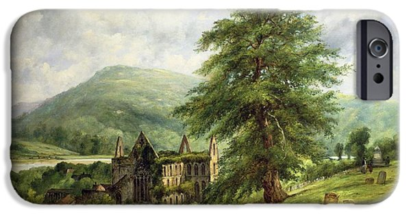 Tombstones iPhone Cases - Tintern Abbey  iPhone Case by Frederick Waters Watts