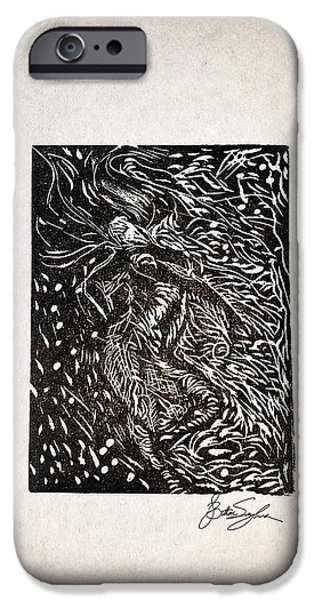Printmaking iPhone Cases - Tiny Dancer iPhone Case by Brittani Singleton
