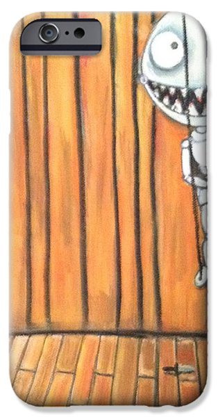 Creepy Pastels iPhone Cases - Tiny Puppet iPhone Case by Regina Jeffers