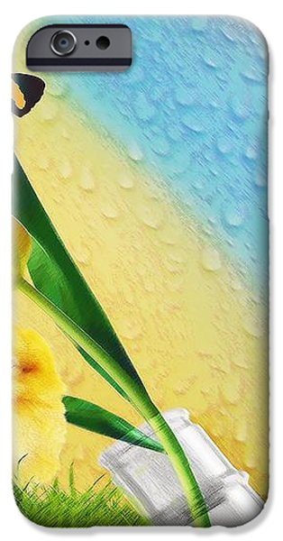 Tiptoe Through The Tulips iPhone Case by Liane Wright
